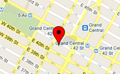 Map of our New York office